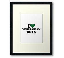 I love vegetarian boys Framed Print