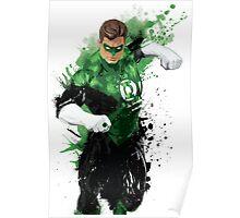 """""""Green Lantern"""" Splatter Art Poster"""
