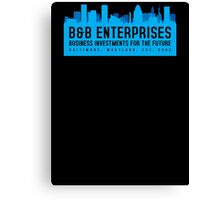 The Wire - B&B Enterprises - Blue Canvas Print