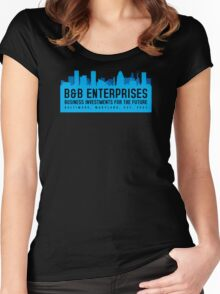 The Wire - B&B Enterprises - Blue Women's Fitted Scoop T-Shirt
