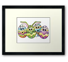 Easter Eggs Cartoon Framed Print