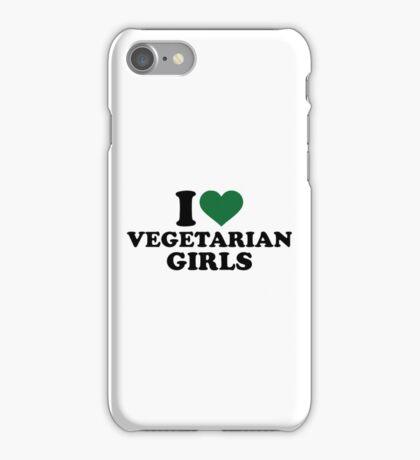 I love vegetarian girls iPhone Case/Skin