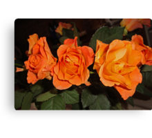 Roses for real friends Canvas Print