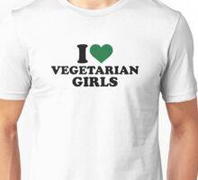 I love vegetarian girls Unisex T-Shirt