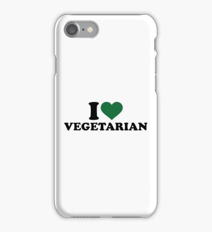 I love vegetarian iPhone Case/Skin