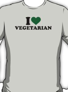 I love vegetarian T-Shirt