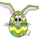 Easter Egg Bunny Cartoon by Graphxpro