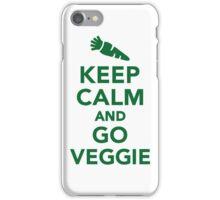 Keep calm and go veggie iPhone Case/Skin