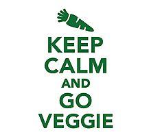 Keep calm and go veggie Photographic Print