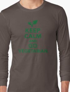 Keep calm and go vegetarian Long Sleeve T-Shirt
