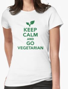 Keep calm and go vegetarian Womens Fitted T-Shirt