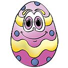 Purple Easter Egg Cartoon by Graphxpro