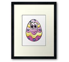 Purple Easter Egg Cartoon Framed Print
