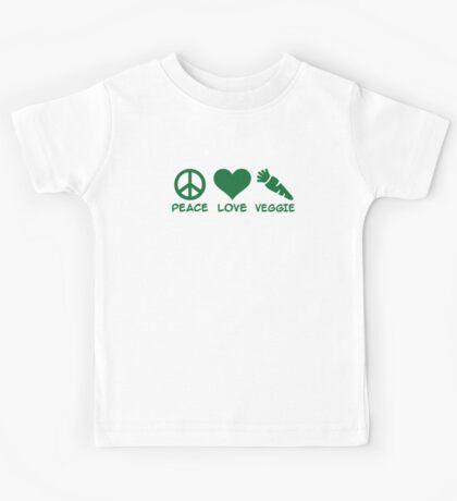 Peace love veggie Kids Tee