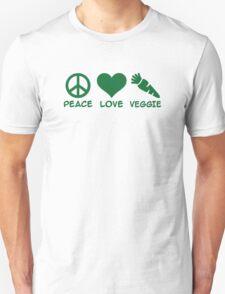 Peace love veggie T-Shirt