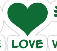 Peace love veggie Sticker