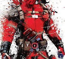 """Deadpool"" Splatter Art by KYCollectibles"