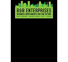 The Wire - B&B Enterprises - Green Photographic Print