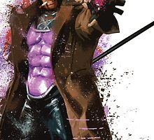 """""""Gambit"""" Splatter Art by KYCollectibles"""