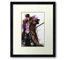 """Gambit"" Splatter Art Framed Print"