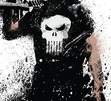 """Punisher"" Splatter Art by KYCollectibles"