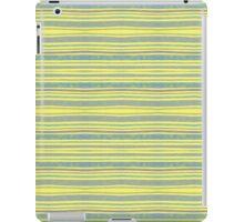 blue stripes on yellow iPad Case/Skin