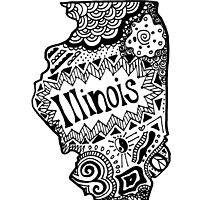 Hipster Illinois Outline by alexavec