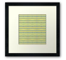 blue stripes on yellow Framed Print