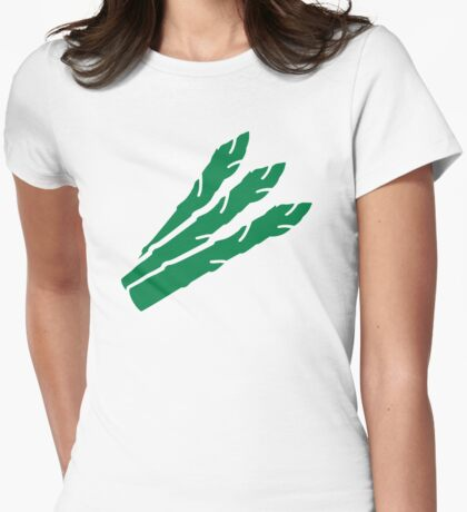 Green aspargus Womens Fitted T-Shirt