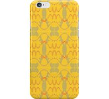 free form red and grey waves on yellow iPhone Case/Skin