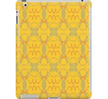 free form red and grey waves on yellow iPad Case/Skin