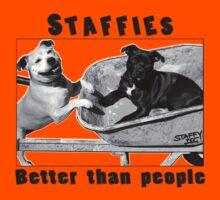 Staffies better than people Kids Tee