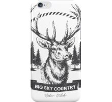 Big Sky Country Deer - Dark print iPhone Case/Skin