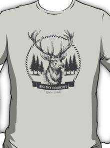 Big Sky Country Deer - Dark print T-Shirt
