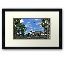 Dicraeosurus Framed Print