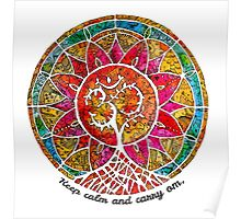 Carry Om Tree Of Life Mandala  Poster