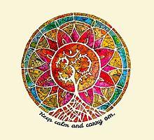 Carry Om Tree Of Life Mandala  by mishyrowan