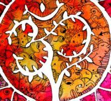 Carry Om Tree Of Life Mandala  Sticker