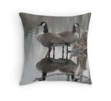 Geese Reflected Throw Pillow