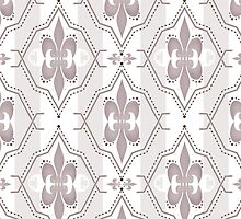 Seamless abstract pattern on brown by fuzzyfox