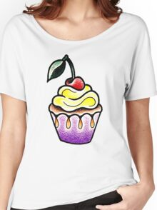 Cute little cupcake traditional tattoo design Women's Relaxed Fit T-Shirt