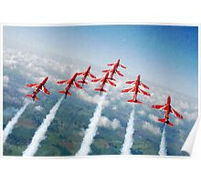 The Red Arrows - Raf Display Team painting / digital art Poster