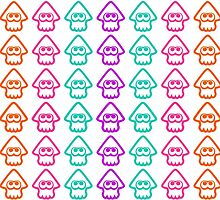 Splatoon squids pattern by RocketClauncher