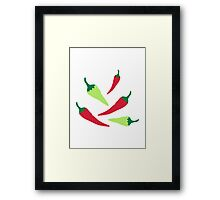 Red green chilies Framed Print