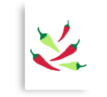 Red green chilies Canvas Print
