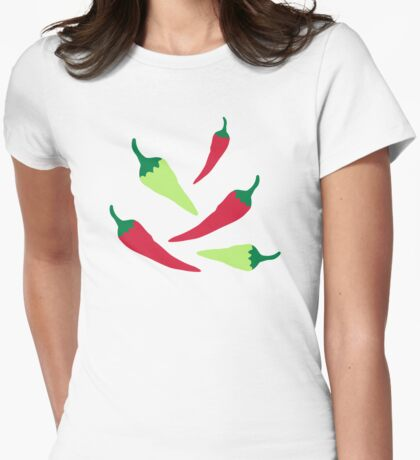 Red green chilies Womens Fitted T-Shirt