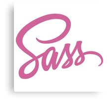 Sass: Syntactically Awesome Style Sheets Canvas Print