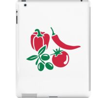 Vegetables tomato olive bell pepper chili iPad Case/Skin