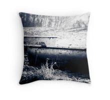 Nature Bath - Bath Tubs in the Country Throw Pillow