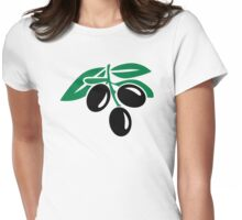 Black olives Womens Fitted T-Shirt